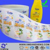 Transparent Vinyl Shampoo Bottle Stickers