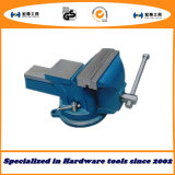 4′′/100mm Heavy Duty French Type Bench Vise Swivel Base with Anvil