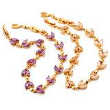 Fashion Jewelry Beautiful CZ Stone Gold Costume Jewelry Bracelet
