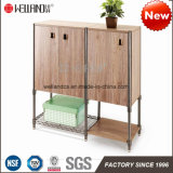Easy Assemble Modern Steel-Wooden Furniture with Wood Cabinet
