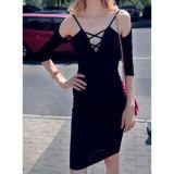 Speghetti Strap Half Sleeve Fashion Lady Bandage Dress