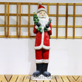 Santa Claus Decorates and Gnome Life Size Garden Statues