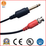 Wholesale Custom Black 3.5mm M-F 5FT Audio Cable