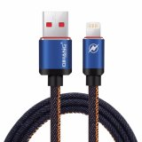 C04 2.4A Leather Metal Plug Fast Mobile Phone Cable USB Cable