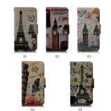 Coloured Pattern PU Leather Wallet Card Holder Flip Case for iPhone 5/5s