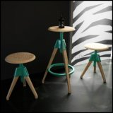 Modern Design Round Wood Bar Tom & Jerry Stool (SP-BT598)