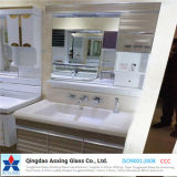Clear/Color Toughened/Float Silver/Aluminium Mirror for Bathroom