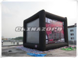 Creative Design Cubic Shaped Rear Projector Inflated Movie Screen