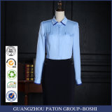 New Style Office Ladies Blue Colors Long Sleeve Formal Shirts