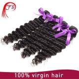Deep Wave Curl Peruvian Hair Human Hair Weave