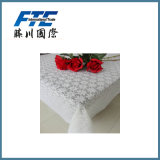 Transparent Hollow out Flower Printed Table Cloth