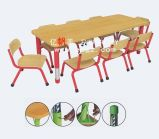 Rectangular Adjustable Kindergarten Furniture Set for Children