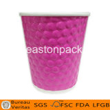 12oz Embossed Disposable Hot Coffee Paper Cup
