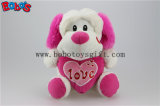 """10"""" Wholesale Cute Stuffed Dog Animals Toy with Pink Heart Pillow Bos1165"""