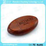 Oval Wood 8GB USB Stick with Custom Logo (ZYF1346)