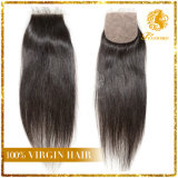 4*4 Silk Base Closure Free Part 100% Virgin Human Hair