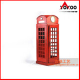 Antique Metal Decoration (1920 Red London Telephone Booth Model) (JL532R)