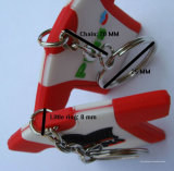 Hot Sales Cartoon PVC Rubber Promotion Gift Keychain