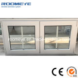 Competitive Price PVC Double Casement Windows with Grills Design