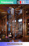 Antique Wrought Iron Casting Wood Spiral Stairs Design for You