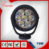 6.2 Inch 70W LED Work Light Flood off Road SUV 4WD ATV Truck Car Super Bright