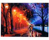 Oil Painting of Night View