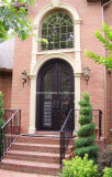 Fancy Front Iron Entry Doors with Window for House