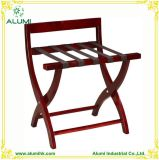 Wooden Folding Luggage Rack with Straps for Hotel Room