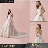 2018 Fashion Sweetheart Neckline Bridal Dress with Long Train