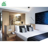 Natural Warm Color Luxury Hotel Furniture Wooden Headboard Combined with Desk