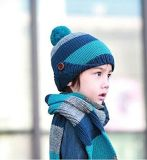 Yonger Winter Baby Girls Boys Kid Hat Wool Knitted Crochet Beanie Cap Scarf Set (HW603S)
