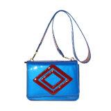 2018 Ss Shinny Patent PU Contrast Color Shoulder Bag Zxk1714