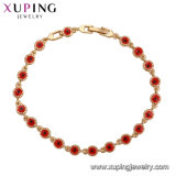 74988 Xuping Alibaba Website Hot Sales Popular Red Evil Eye Gold Chains Bracelet for Girls