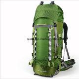 Outdoor 60L Travel Double Shoulder Reinforced Waterproof Green Mountain Backpack