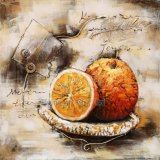 Modern 3 D Metal Oil Paintings for Fruits