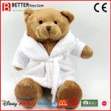 Plush Teddy Bear Soft Toy in Bathrobe for Kids