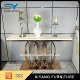 2016 Factory Supply Marble Stainless Steel Console Sofa Table