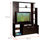Modern MFC Laminated Wooden Cabinet TV Stands (HX-DR226)