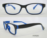 Rectangle Shape with Metal Rivet Cp Injection Eyeglasses