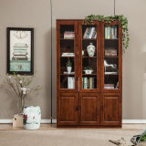 Wooden Book Shelf Solid Wood Wood Bedroom Bookcase (GSP9-033)