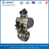 Double Clips Connection Stainless Steel 316L Pneumatic Butterfly Valve