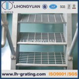 Galvanized Steel Grating Stair Treads with Steel Bolted Fixing
