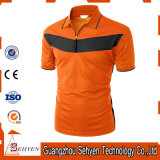 Wholesale Man Orange OEM Plain Short Sleeve Polo T-Shirt