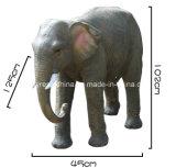 Life Size Fiber Glass Elephant of Garden Decor Statue