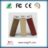 Promotion Price Wooden Design 2600mAh Charger Portable Power Bank