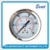 Ss Pressure Gauge - Center Back Manometer - Liuquid Filled Pressure Gauge
