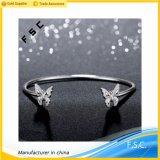 Women′s Fashion Charm Jewelry Double Butterfly Cuff Bracelet Torque Bangle