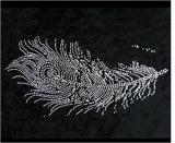 Feather Shape Drilling Tattoo Stickers Art Tattoo Sticker