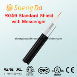 Rg59 Standard Shield with Messenger Outdoor Coaxial RCA Audio Cable