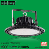 5 Years Warranty 150lm/W Waterproof IP66 UFO High Bay Light with Meanwell Driver